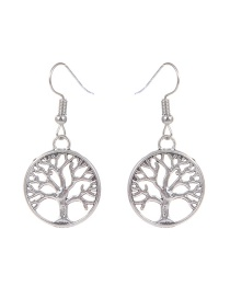 Fashion Silver Color Tree Shape Decorated Simple Earrings