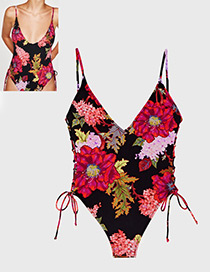 Sexy Multi-color Flower Shape Decorated Swimwear
