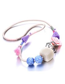 Exaggerate Multi-color Geometric Shape Decorated Necklace