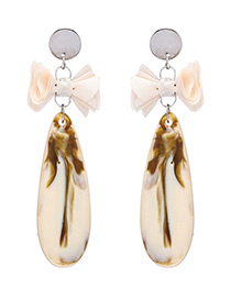 Fashion White Bowknot Shape Decorated Earrings