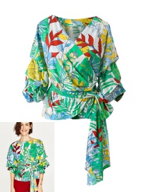 Trendy Multi-color Bowknot&flower Decorated Simple Blouse
