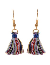 Fashion Multi-color Tassel Decorated Color Matching Earrings