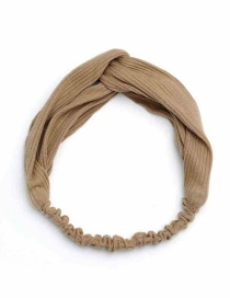Fashion Khaki Pure Color Decorated Hair Band