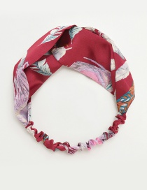 Fashion Red Leaf Pattern Decorated Hair Band