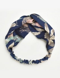 Fashion Navy Leaf Pattern Decorated Hair Band