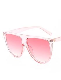 Fashion Pink Pure Color Decorated Sunglasses