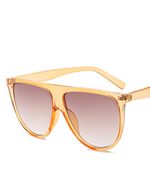 Fashion Orange Pure Color Decorated Sunglasses