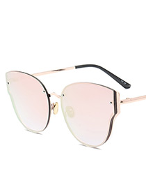 Fashion Pink Wing Shape Decorated Pure Color Sunglasses