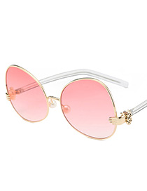 Fashion Red Palm Shape Decorated Sunglasses
