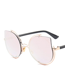 Vintage Light Pink Waterdrop Shape Decorated Sunglasses