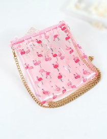Fashion Pink Flamingo Pattern Decorated Wallet