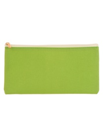Fashion Green Square Shape Decorated Cosmetic Bag