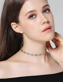 Fashion Antique Silver Star Shape Decorated Choker