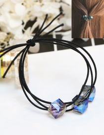 Fashion Blue Square Shape Diamond Decorated Hair Band
