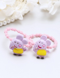 Lovely Purple Little Elephant Decorated Hair Band(2pcs)