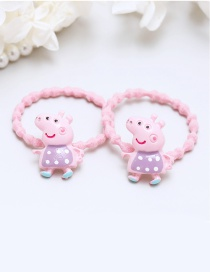 Lovely Pink+purple Little Pigs Decorated Hair Band(2pcs)