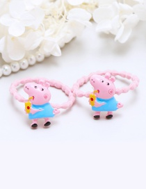 Lovely Blue+pink Little Pigs Decorated Hair Band(2pcs)