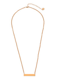 Elegant Gold Color Square Shape Decorated Pure Color Choker
