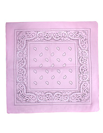 Bohemia Pink Color-matching Decorated Tassel Sqaure Scarf