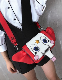 Fashion Red Cartoon Elephant Shape Decorated Shoulder Bag