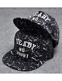 Trendy Black Letter Pattern Decorated Hip-hop Cap(adjustable)