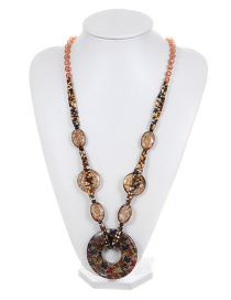 Fashion Champagne Color-matching Decorated Necklace
