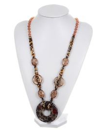 Fashion Champagne Flower Shape Decorated Necklace