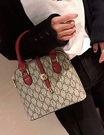 Fashion Red Metal Shape Decorated Bag
