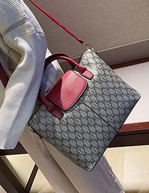 Fashion Red Bowknot Shape Decorated Bag