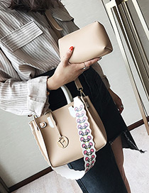 Lovely Khaki Mouse Pattern Decorated Shoulder Bag (2pcs)
