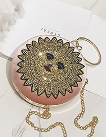 Personality Pink Sun Shape Decorated Shoulder Bag