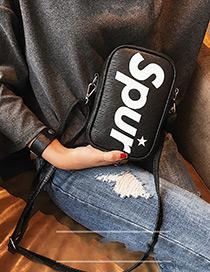 Fashion Black Letter Decorated Bag
