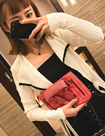 Personality Red Jacket Shape Decorated Bag