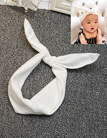 Lovely White Bowknot Shape Decorated Hair Band