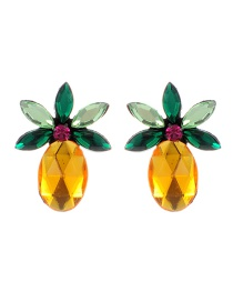 Elegant Multi-color Pineapple Decorated Earrings