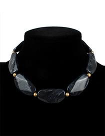 Fashion Black Pure Color Decorated Necklace