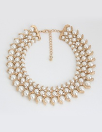 Fashion Gold Color Pure Color Decorated Double Layer Choker