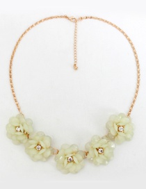Fashion Green Flower Decorated Necklace