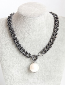 Fashion Black Pearl Decorated Necklace