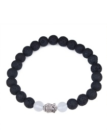 Elegant White+black Owl Shape Decorated Bracelet