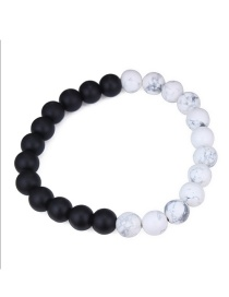 Fashion White+black Pure Corlor Decorated Bracelet