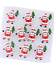 Fashion Red+green Santa Claus Decorated Earring Sets (5pcs)