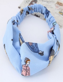 Lovely Blue Cartoon Characters Decorated Hair Band