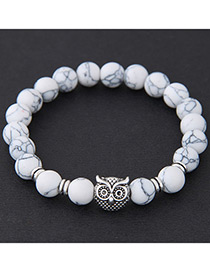 Elegant White Owl Shape Decorated Bracelet