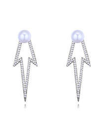 Elegant Silver Color Hollow Out Design Earrings
