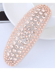 Fashion Pink Diamond Decorated Hairpin