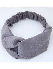 Fashion Gray Pure Color Decorated Headband