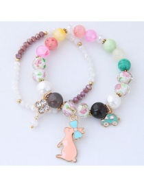 Fashion Multi-color Rabbit Shape Decorated Bracelet
