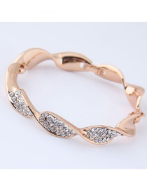 Fashion Rose Gold Pure Color Decorated Bracelet