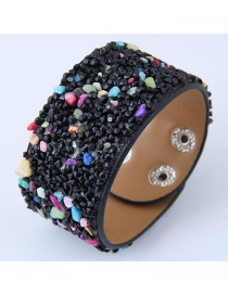 Fashion Multi-color Color Matching Decorated Width Bracelet
